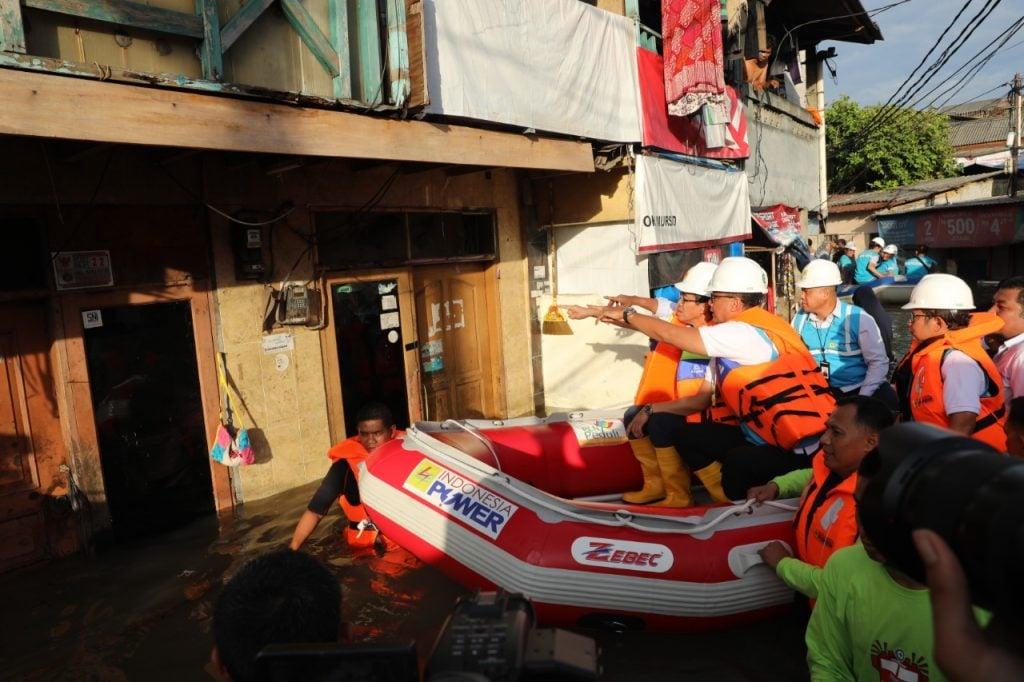 Direksi PLN memantau kondisi banjir Jakarta