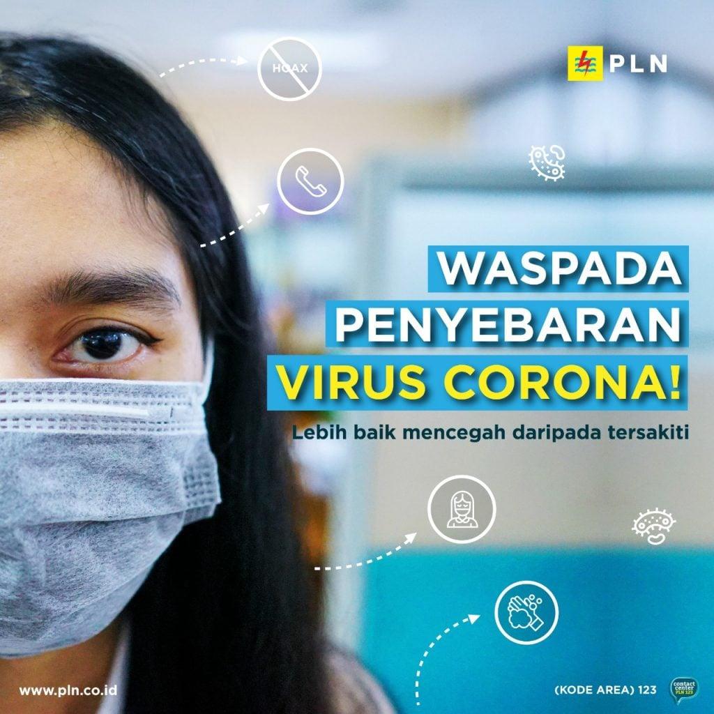 Poster waspada virus corona dari PLN