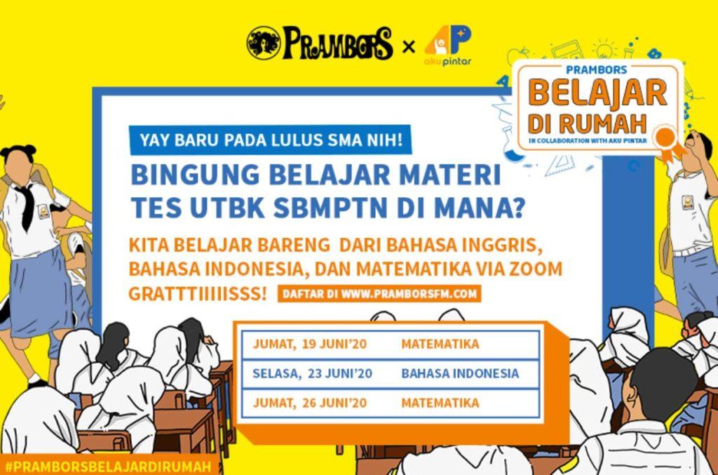 Smartpower Media Persiapan Masuk PTN Favorit, Prambors Ajak Anak SMA Belajar UTBK Gratis!