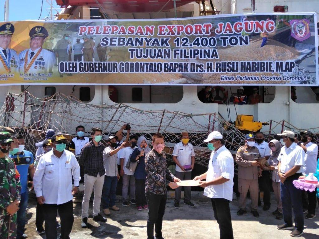 Smartpower Media Gorontalo Lepas Ekspor Jagung Sebanyak 12.400 Ton Ke Filipina