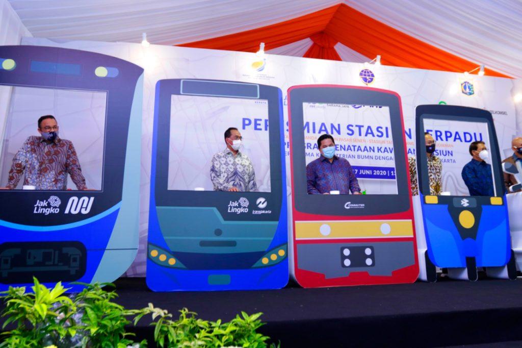 Smartpower Media Erick-Anies Kawinkan 7 Moda Transportasi di Stasiun Sudirman