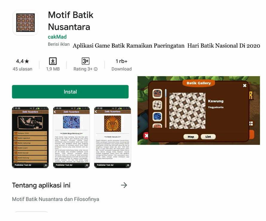Aplikasi Game Batik Ramaikan Paeringatan Hari Batik Nasional Di 2020 smartpower media berita